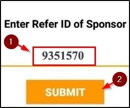 Enter ref id - 9351570