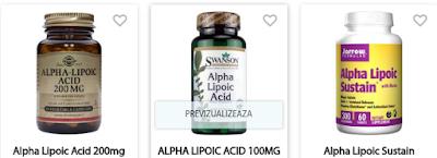 Cumpara de aici produse cu acid Alpha Lipoic pt slabire