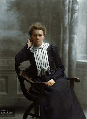 Marie Curie, ca. 1905 retocada a color