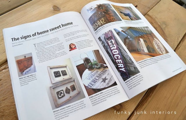 Landing in Signcraft Magazine / FunkyJunkInteriors.net