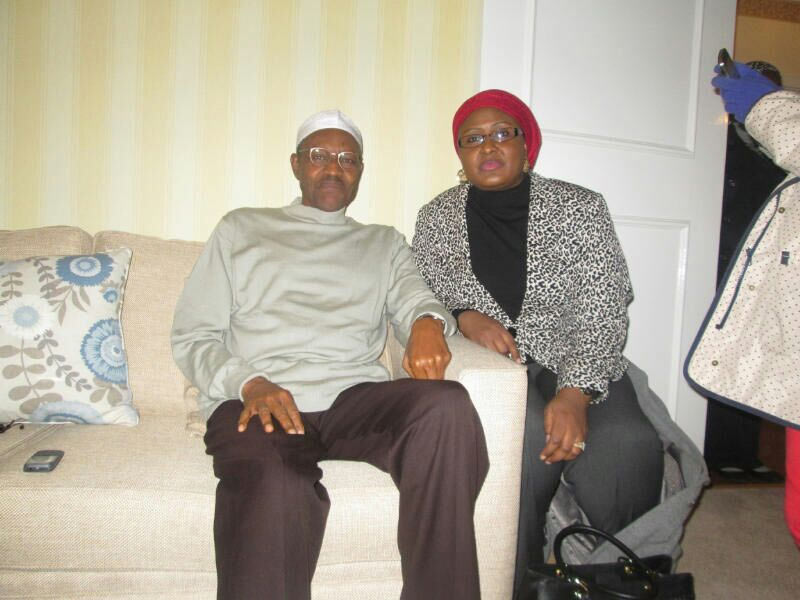Buhari quenches death rumors as president is pictured with his wife