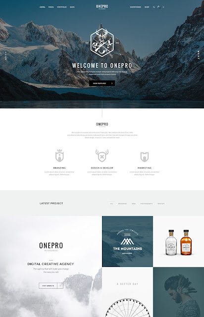 OnePro photoshop PSD site template