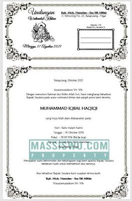 download undangan walimatul khitan ms word