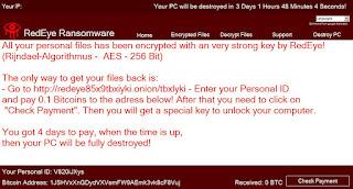 RedEye Ransomware note