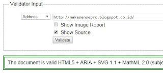 Cek Valid HTML5