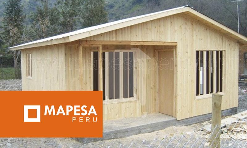 Mapesaperu casetas y m dulos prefabricados casas - Refugios de madera prefabricados ...