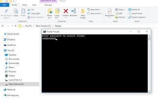 Cara paling simpel kunci/buka folder di PC tanpa aplikasi