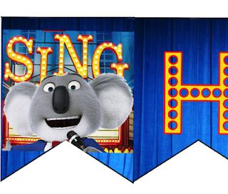 Sing printable banner