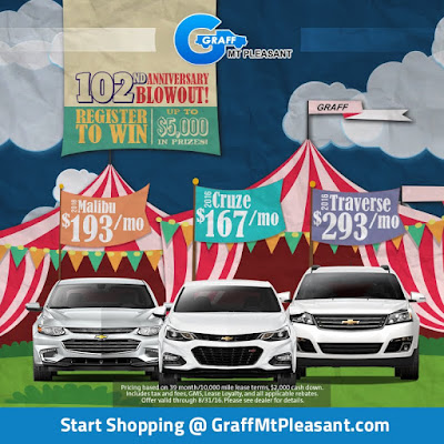 Enter to Win Up to $5,000 in Prizes at Graff Mt. Pleasant!