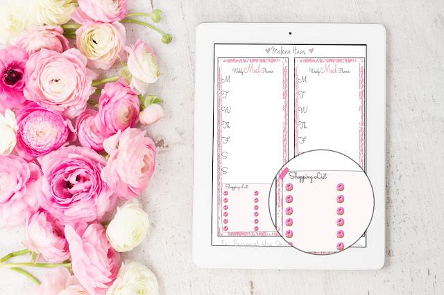 Free Planner Printable: weekly meal planner bookmark