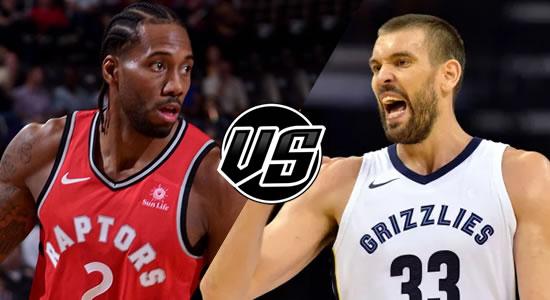 Live Streaming List: Toronto Raptors vs Memphis Grizzlies 2018-2019 NBA Season