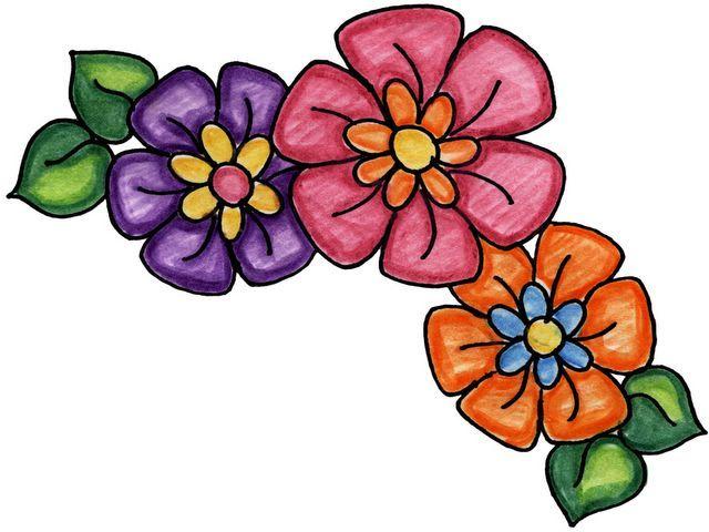 Dibujos De Mariposas Infantiles A Color: Imagenes De Flores Y Mariposas