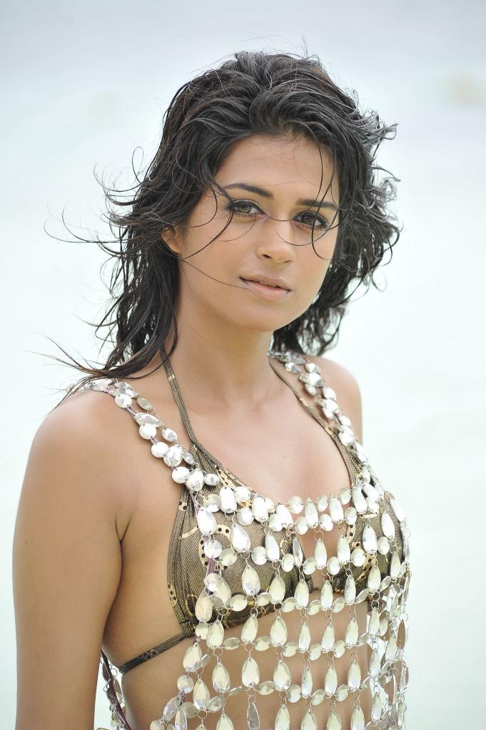 pretty and winning Shraddha das two piece bikni