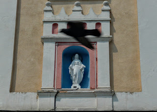 Самбір. Ратуша. Скульптура Пресвятої Діви Марії