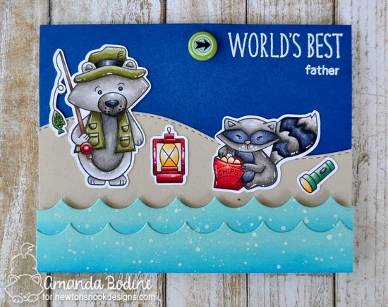Father's Day Card by Amanda Bodine | Campfire Tails Stamp Set by Newton's Nook Designs #newtonsnook