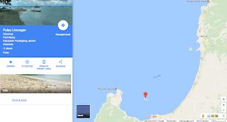 Lokasi Pulau Liwungan, Pandeglang, Banten