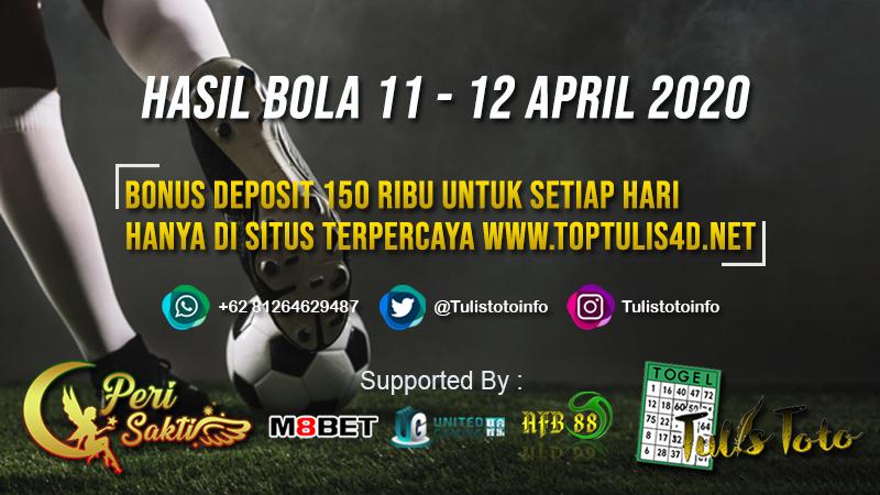 HASIL BOLA TANGGAL 11 – 12 APRIL 2020