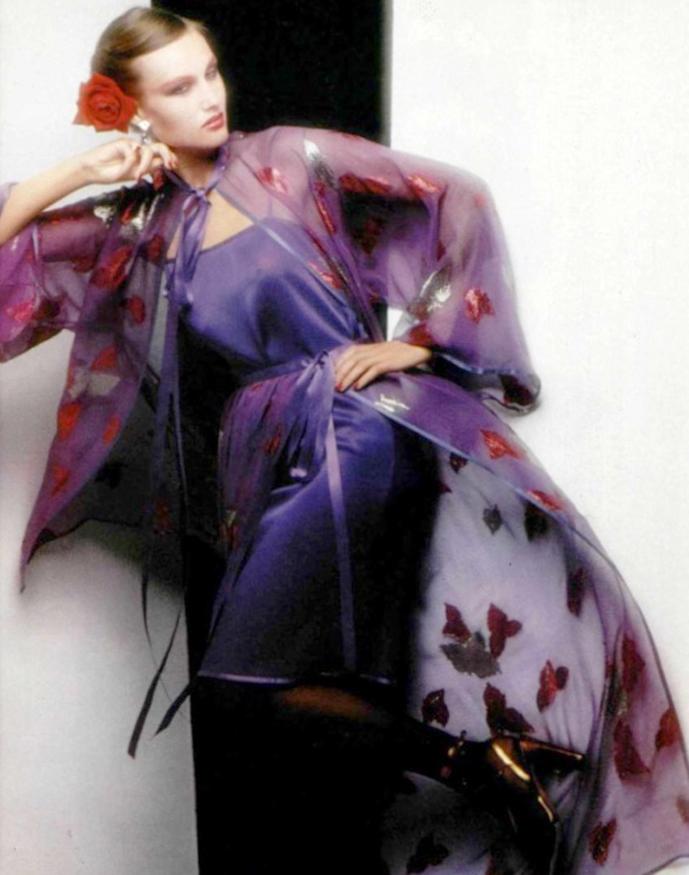 Yves Saint Lauren Rive Gauche 1978 ad campaign via www.fashionedbylove.co.uk