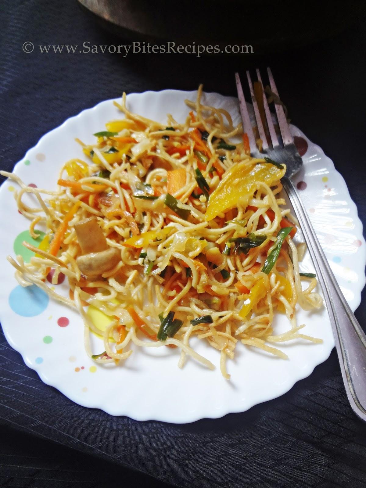 Crispy Burnt Garlic Noodles Veggie Crispy Noodles