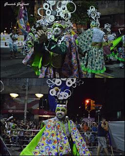 Desfile Inaugural del Carnaval. Uruguay. 2017 Murga La Gran 7