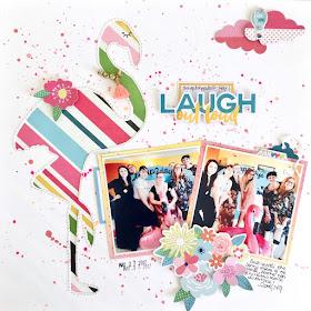 Laugh Out Loud Scrapbook Page by Angela Tombari for Crea il Tuo Kit con Angela & Giorgia