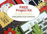 Stampin' Up! Botanical Garden Project Kit -- Free Gift with $40 order from Julie Davison in May 2016 #stampinup www.juliedavison.com