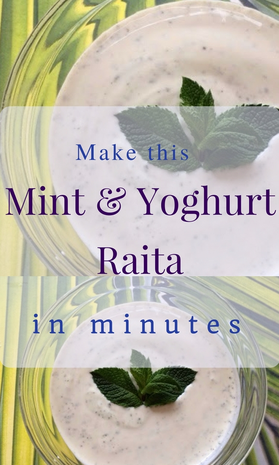 Make this mint and yoghurt raita in minutes
