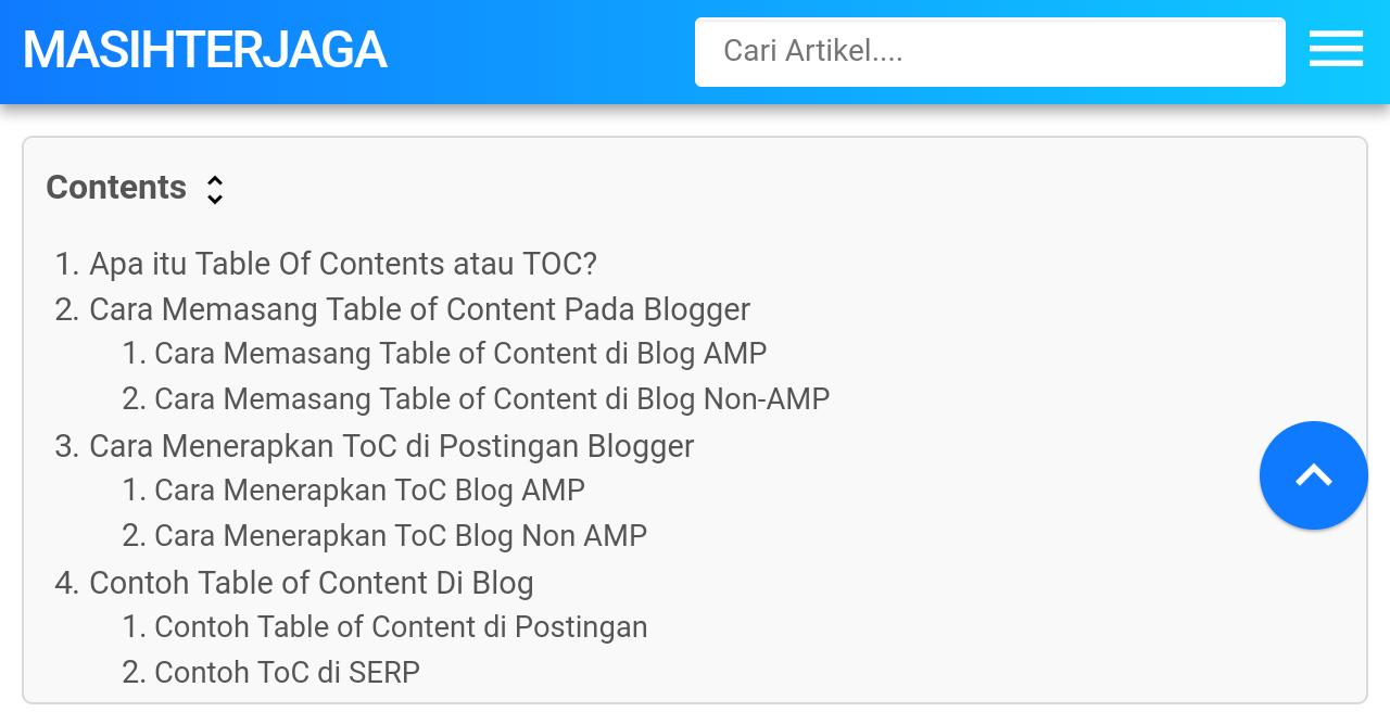 contoh toc di blog nonamp