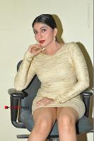 Actress Pooja Roshan Stills in Golden Short Dress at Box Movie Audio Launch  0072.JPG