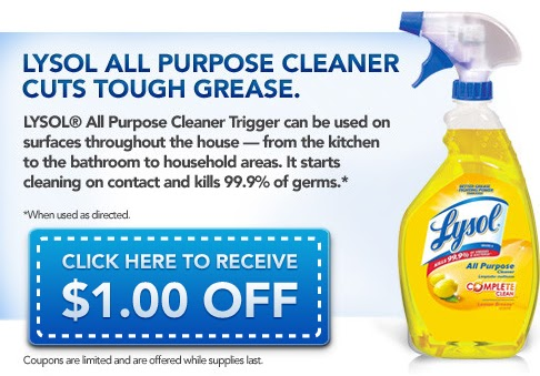 Lysol All Purpose Cleaner Coupon