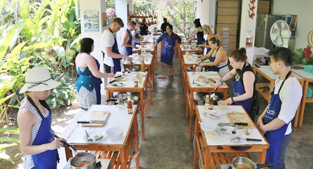 Thai Secret Cooking Class Photos & Video. March 6-2017. Pa Phai, San Sai District, Chiang Mai, Thailand.