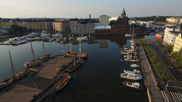 Drone Namibia flying in Helsinki, Finland