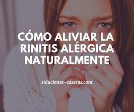 Remedios caseros para combatir la rinitis alérgica