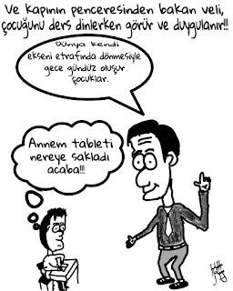 Öğretmen öğrenci karikatürleri