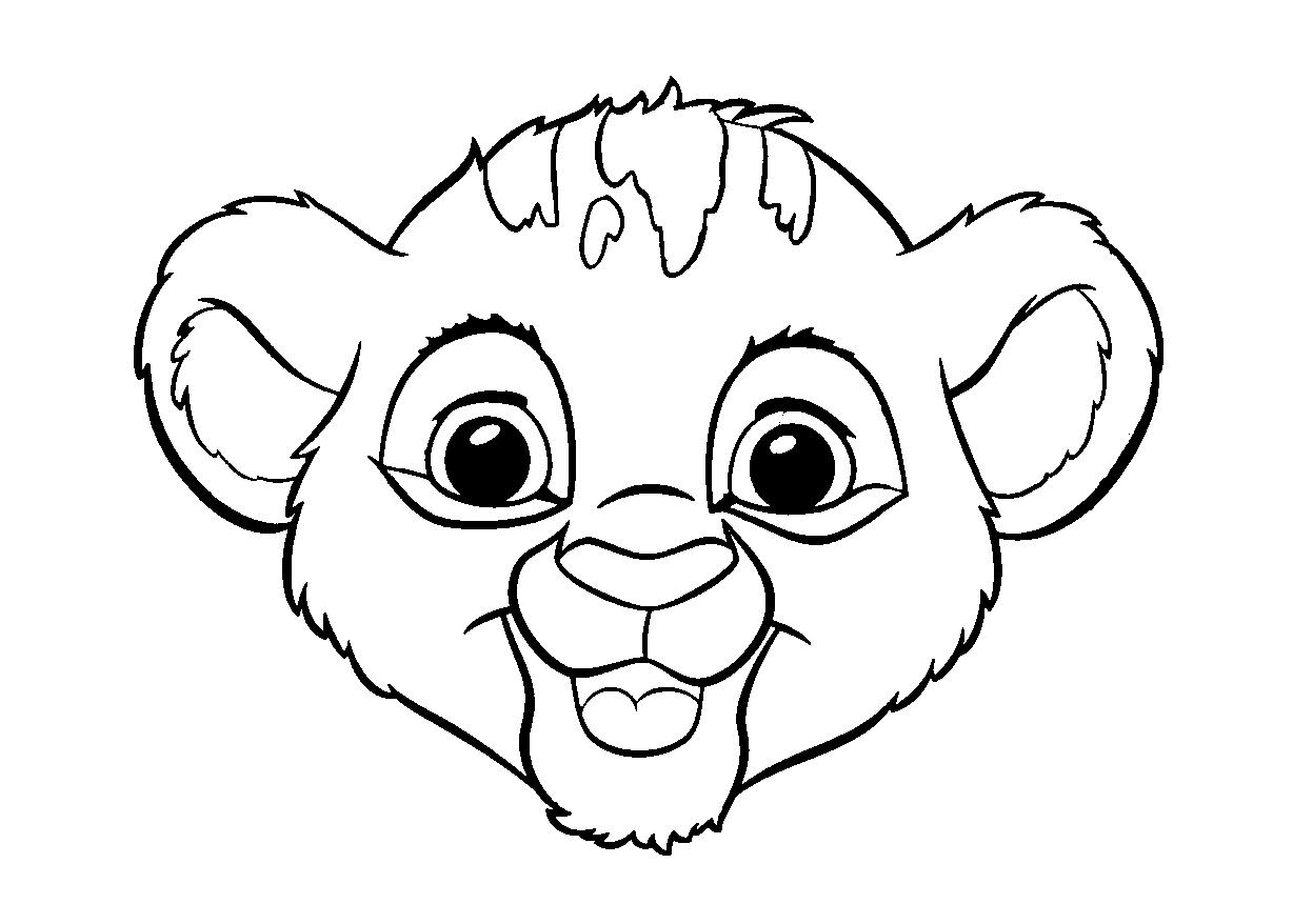 Colour Drawing Free Wallpaper Disney Cartoon The Lion