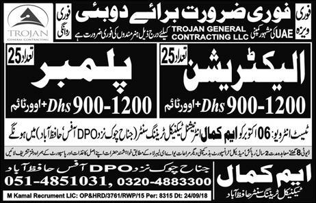 Dubai Jobs 2018, Dubai jobs with Visa 2018, Dubai Free visa Jobs 2018 , Dubai Company Jobs