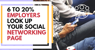 6 to 20% employers look up your social networking page