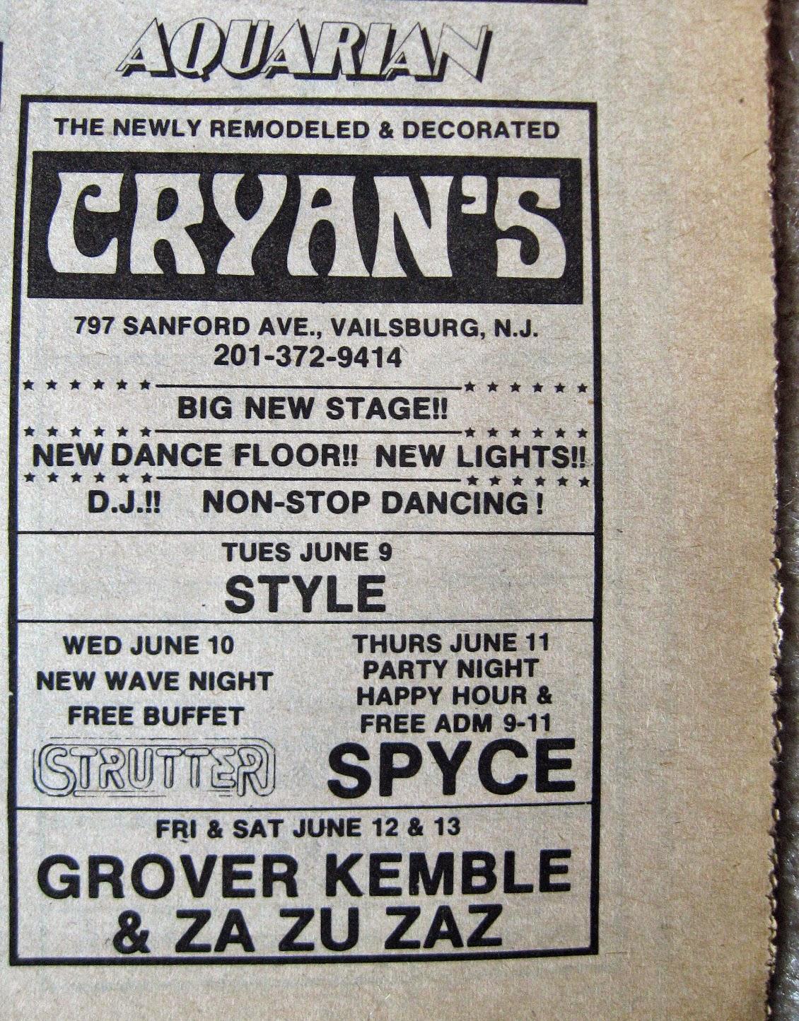 """Cryan""""s band line up 1981"""