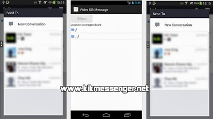 Envia mensajes en video con Video Kik Message