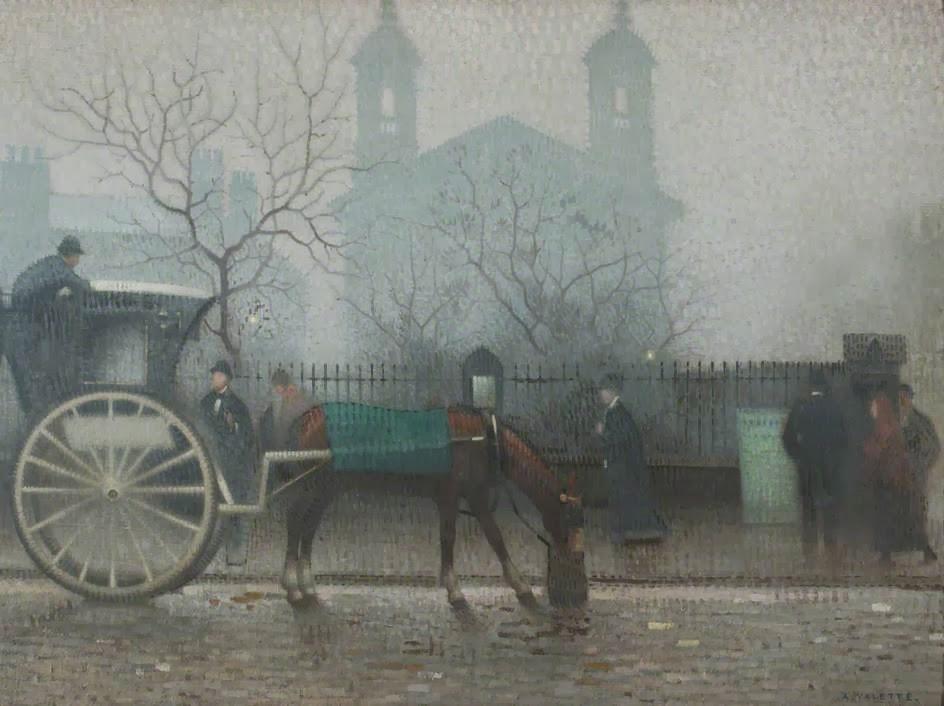 Adolphe  Valette    Hansom  Cab  at  All  Saints