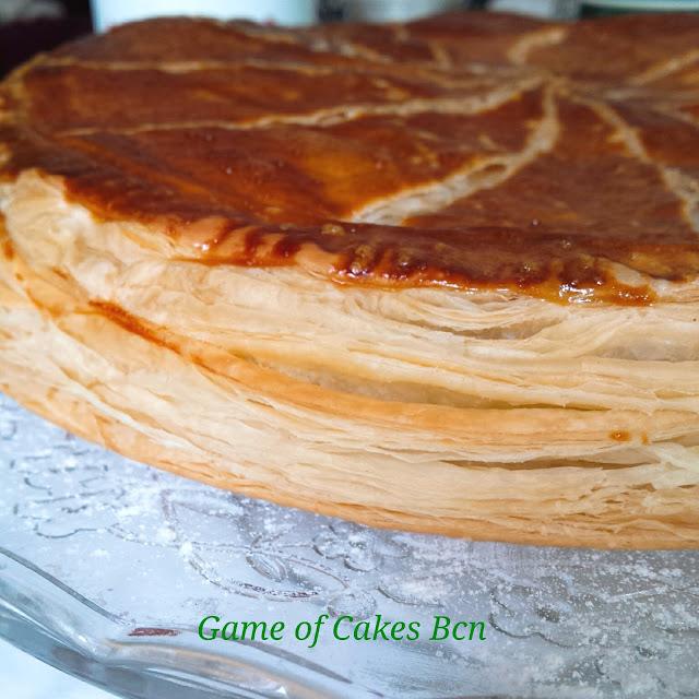 galette des rois ligera con crema de almendras y manzana