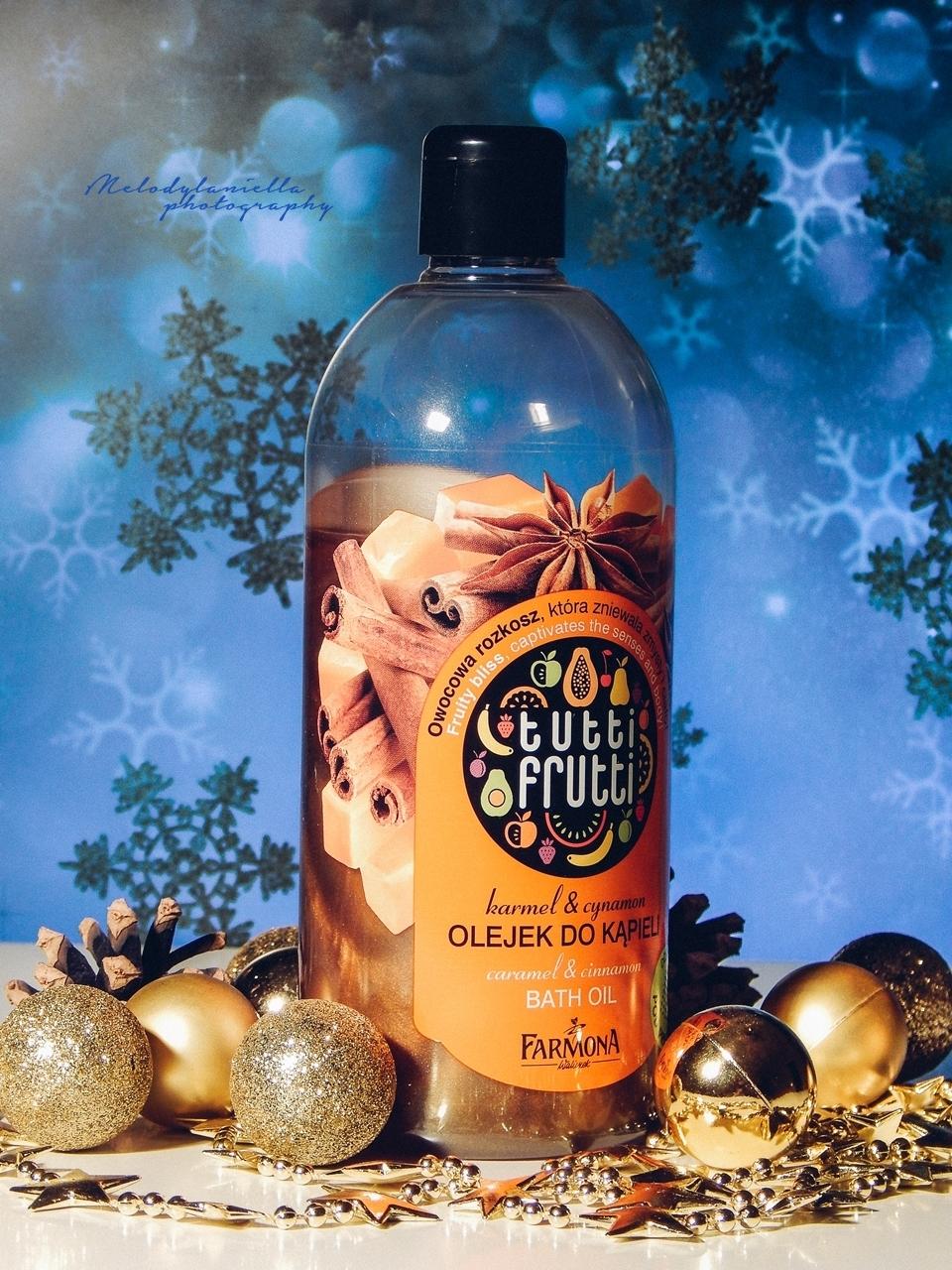 tutti frutti olejek do kapieli karmer cynamon bath oil zapach swiat slodkosci w kapieli prysznic uroda cialo zapach