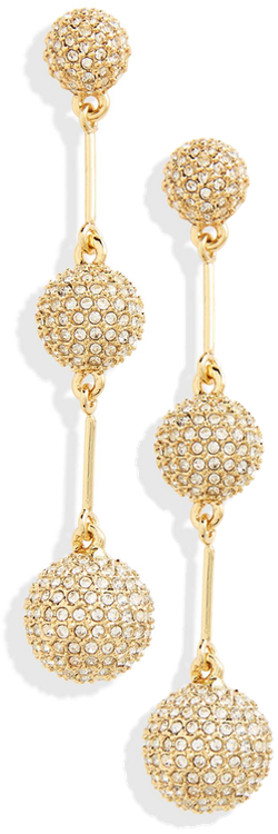 KATE SPADE NEW YORK flying colors pavé drop earrings
