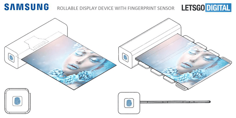 Samsung files patent for fingerprint activated rollable display!