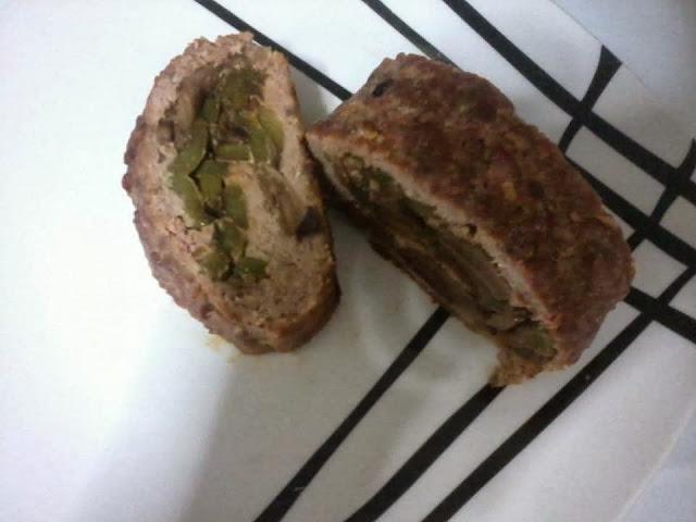 Receita de rocambole de carne moída com cogumelos light