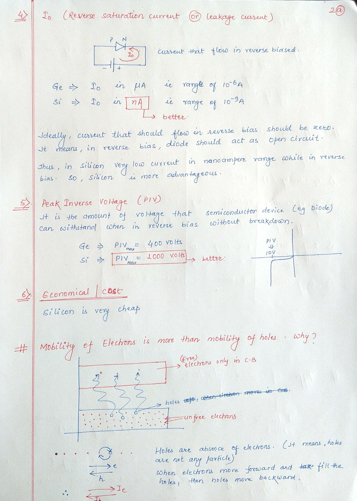 BEE Basic Electronics Notes : Part 1, Semiconductors