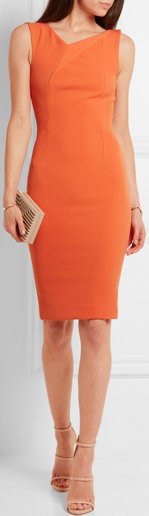 ROLAND MOURET Grainger Stretch-Crepe Dress