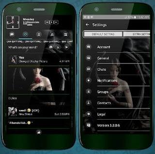 BBM MOD Black Angel Transparan Theme v3.2.0.6 Apk