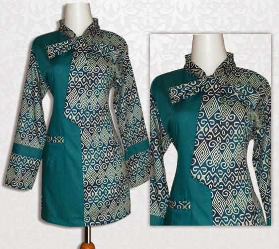 Gambar Baju Batik Kantor Wanita: Model Baju Batik Kerja Untuk Wanita