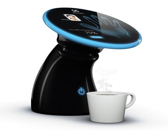 Cafeteira com a nossa digital